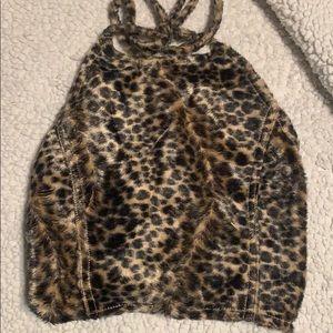 Leopard print halter top
